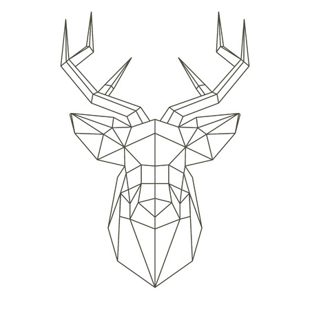 Polygonal head of deer Ilustrace