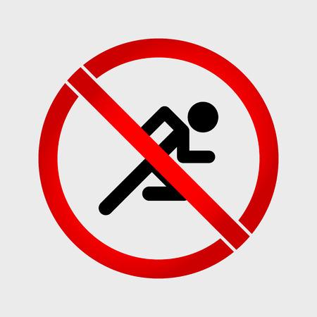 no correr: No hay se�ales de prohibici�n de ejecuci�n