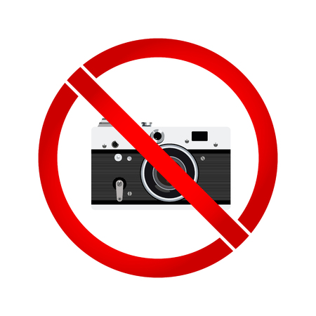 no photo: No photo camera prohibition sign Illustration