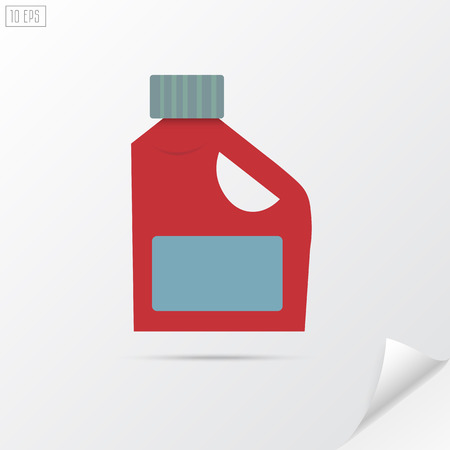 bleach: Plastic bottle for liquid laundry detergent, cleaning agent, bleach or fabric softener. Material design.