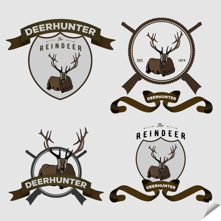 lying: Authentic hipster icon with lying deer.
