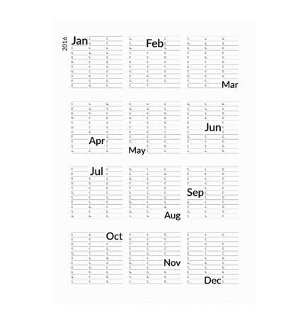 minimalistic: Minimalistic creative calendar 2016.