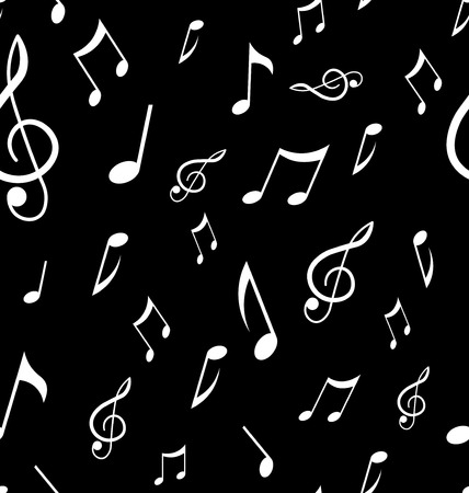 Abstract seamless pattern with music notes. Background vector Illustration