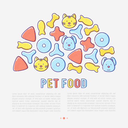 Pet food concept in half circle template