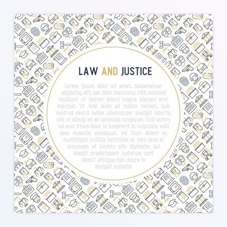 Law and justice concept template