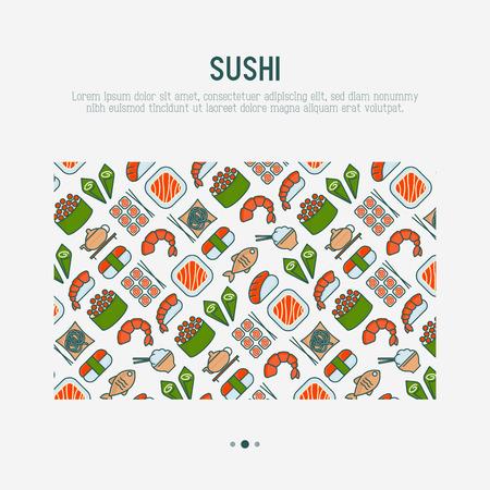 Japanese food concept banner vector illustration