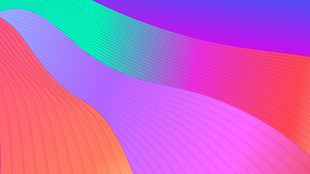 Abstract bright background with waves and gradient. Modern vector illustration for wallpaper, presentation, posters, business card.