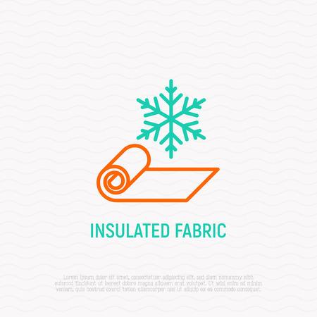 Icono de delgada línea de tejido aislado. Ilustración de vector moderno.