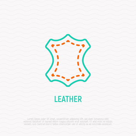 Leather thin line icon. Modern vector illustration, sign for clothing. Illustration