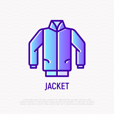Jacket thin line icon. Modern vector illustration.