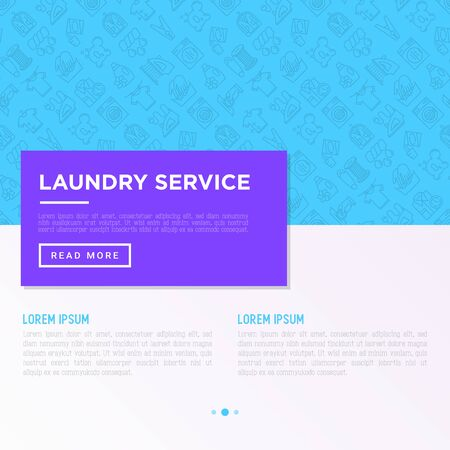 Laundry service concept with thin line icons