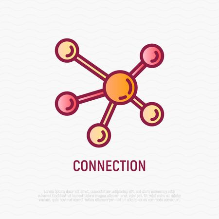 Connection thin line icon. Modern vector illustration. 일러스트