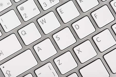 teclado numerico: Close up vista superior de un teclado de ordenador