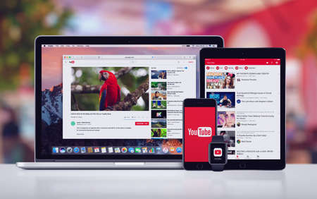 YouTube on the Apple iPhone 7 iPad Pro Apple Watch and Macbook Pro
