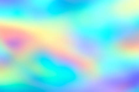 Blur holographic neon foil background. Abstract holographic background. Design template. Standard-Bild