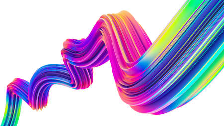 Neon holographic liquid wave shape for trendy Christmas design backgrounds and posters