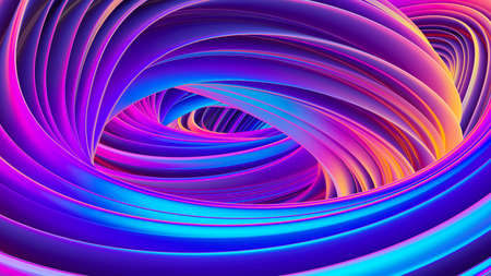 3D twisted liquid shapes abstract background in holographic colors for trendy Christmas design