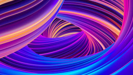 Abstract holographic liquid shapes in motion background for Christmas design Stock Photo