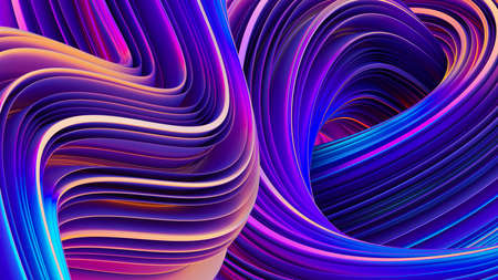 Abstract geometric background in holographic ultraviolet vibrant colors