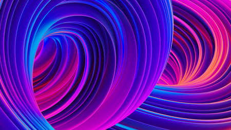 3D Abstract fluid background with holographic liquid shapes in motion