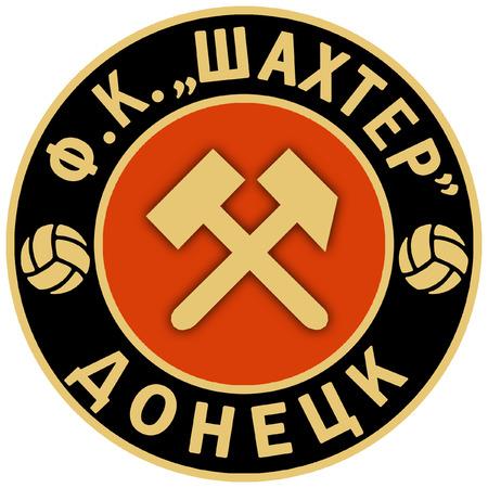 donetsk: Retro emblem of football club Shakhtar Donetsk Stock Photo