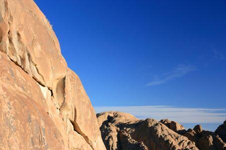 musa: Slope of mountain and blue sky, Sinai, Egypt