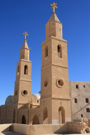 Ancient Christian monastery, one of the oldest in the world, Egypt, St. Antonys Christian Coptic Monastery (IV century).
