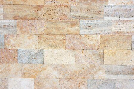 coquina: Coquina brick wall with natural pattern.