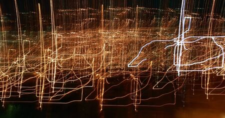 Crazy holiday lights. This is a lights photographed with the shutter open for effect. Stock Photo - 16882959