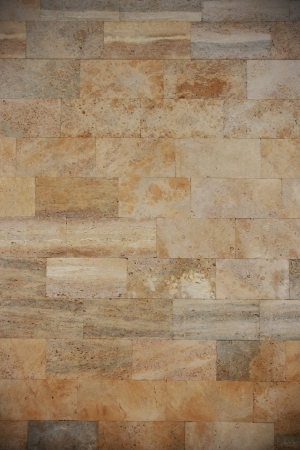 Coquina pared de ladrillo con el modelo natural. Foto de archivo