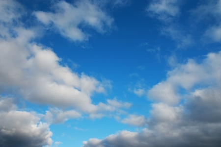 disperse: Clouds disperse after rain