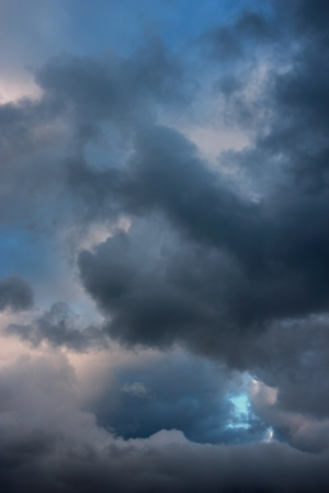 Stormy clouds on summer evening  Rainy cloudy sky before the storm  Stock Photo - 17454448