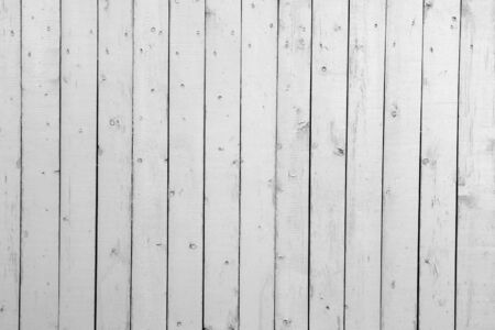 White background of weathered painted wooden plank photo