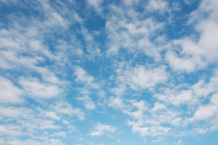 Sky over horizon and white fluffy clouds  Stock Photo - 17666777