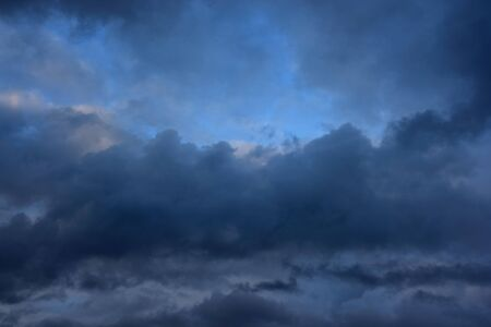 Rainy cloudy sky before the storm. Stormy clouds on summer evening. Stock Photo - 17883423