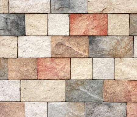 fachada: Textura colorida de la textura de la pared de ladrillo de piedra arenisca