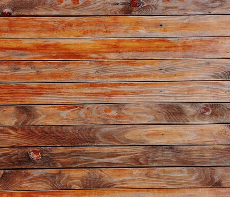Wooden planks with branches