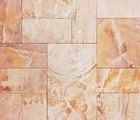 Wall from granite tiles with natural pattern  Granite with natural pattern  Stock Photo