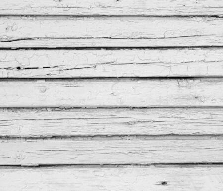 Fondo blanco de pintado resistido tablones de madera tablones de madera en una fila esmalte blanco Foto de archivo