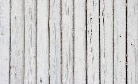 White background of weathered painted wooden plank  Wooden planks in a row white enamel