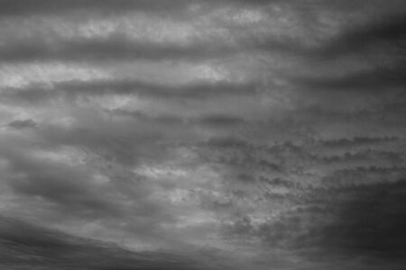Dark sky and stormy unusual clouds  Stock Photo