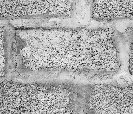 porous: Grey wall. Wall from porous blocks.
