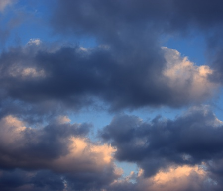 Rainy cloudy sky before the storm  Stormy clouds on summer evening Stock Photo - 19046395