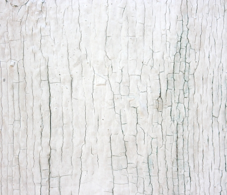 White rustic wall. Weathered wood with white enamel.