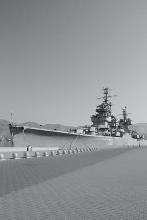Warship in the port, Novorossiysk, Russia  Editorial