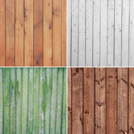Cuatro textura de madera diferente. (high.res.) Fondos de tabl�n de madera degradado.