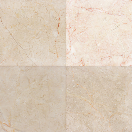 Four different texture of a light and dark marble   high res   Marble and granite background with natural pattern   photo