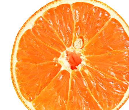 Slice of orange. Orange isolated on white.