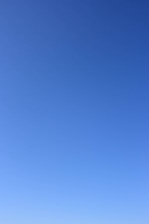 without clouds: Sky as background. Clear blue sky without clouds. Stock Photo