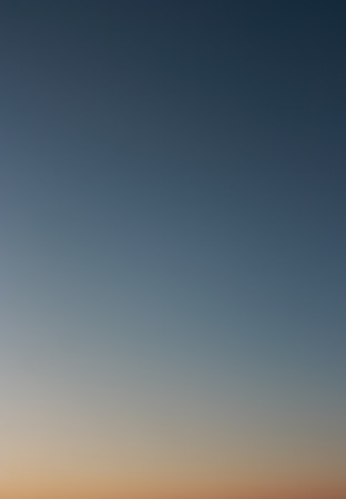 without clouds: Clear evening sky without clouds. Sky as background or gradient. ISO 100, not photo processing Stock Photo